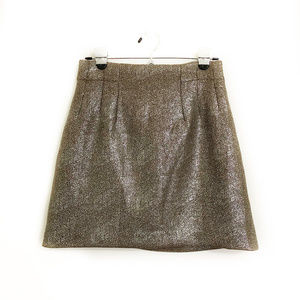 H&M Gold and Silver Shimmery Mini Skirt